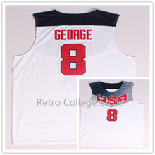 Cheap mens #8 Paul George Team USA Basketball Jersey Retro College Throwback Men's Throwback Embroidery jerseys