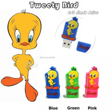 cute lovely Tweety Bird pen drive 32g pendrive 16g 8g 4g usb flash drive Looney Tunes flash memory stick USB2.0 real capacity