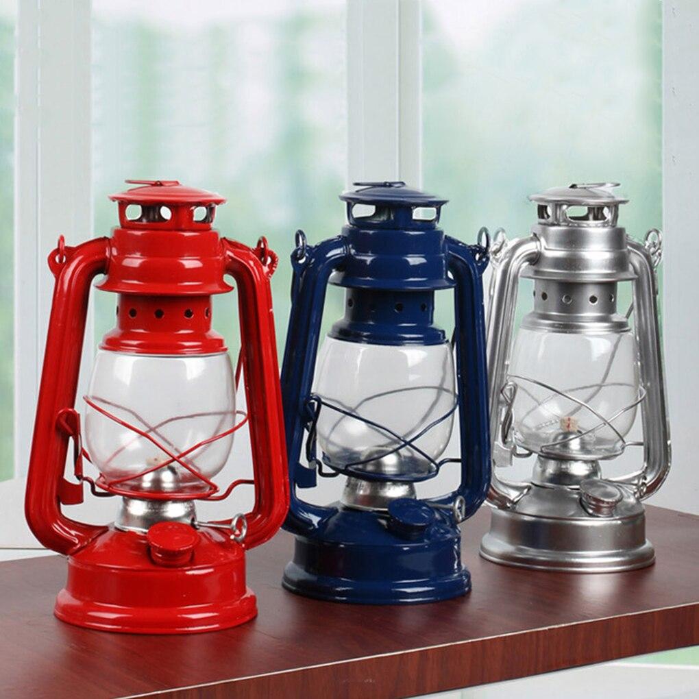 Portable Lanterns Kerosene Lamp Metal Iron Camping Kerosene Lamp Photo Props