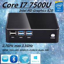 Eglobal Intel Core i7 7500U Kaby Lake Mini Computer Nettop Micro PC Windows 10 TV Box HTPC 300M Wifi HDMI VGA