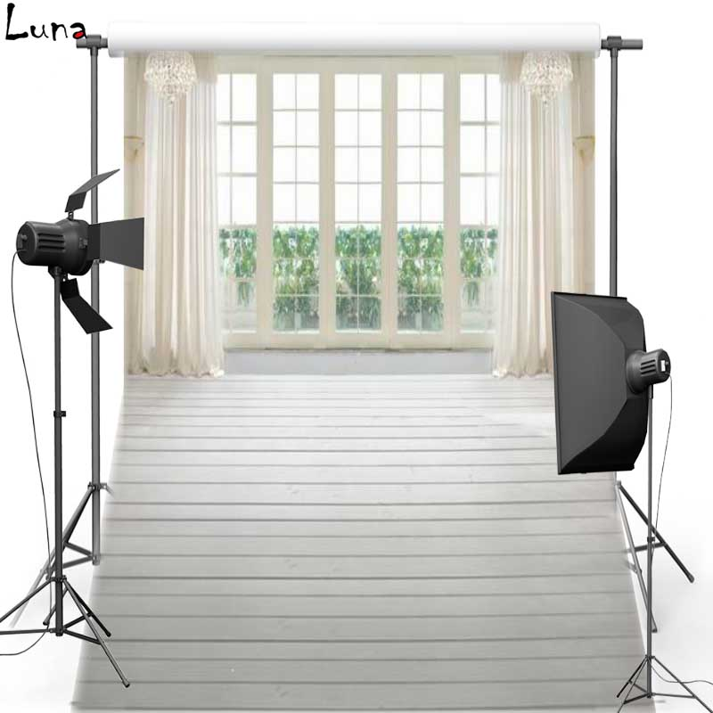 White Curtain Window Vinyl Photography Background Wood Floor Indoor Oxford Backdrop For Wedding photo studio Props 0868<br><br>Aliexpress