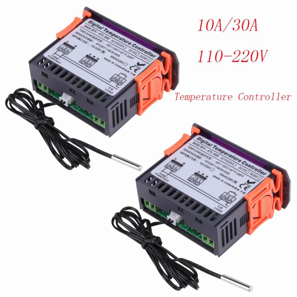 Detail Feedback Questions About High Quality Temperature Controller Stc1000 Digital Microcomputer 220v W Sensor Precise Stc 3000 110v Touch Thermostat With