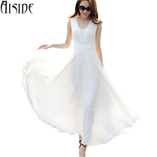 Buy S~5XL women dress sexy V neck elegant white long maxi dress chiffon party dresses high waist boho robe femme vestido de festa ) for $31.41 in AliExpress store