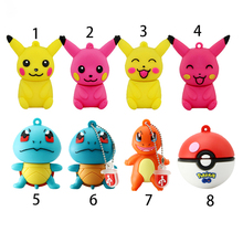 cartoon animal cute Pokemon Pikachu shape USB Flash Drive USB 2.0 pen drive flash memory stick pendrive 8GB 16GB 32GB