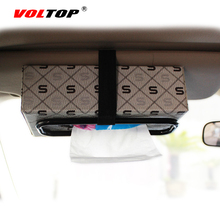 VOLTOP Car Tissue Box Holder Clips Auto Paper Napkin Fastener Paper Case Clip Universal Seat Back Headrest Pillow Boxes Bracket