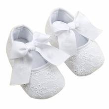 WEIXINBUY 2017 Baby Girl Princess Prewalker Shoes Pure White Soft Sole Shoes Infant Leisure First Walkers Girl Toddler Shoes(China)
