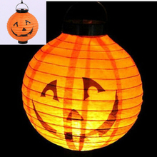 FD2802 Halloween X'mas LED Paper Hanging Lantern DIY Scary Party Pumpkin Decor