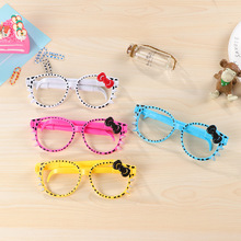 1Pcs New Eye Glasses Hollow Dot Bow knot Creative Decorative Ball Pen Ballpoint Pen Stationery Office School Pen E0046(China)