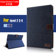 For Apple ipad 2 3 4 Fashion Flip Business Smart Stand PU Leather Tablet Case For ipad 3 ipad 4 9.7 Tablet Smart Case Cover