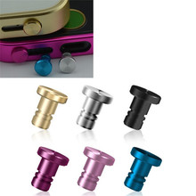 SIANCS Mini Aluminum Alloy PU Dust Plug Set Earphone Jack Plug Anti Dust Plug Phone Accessories for iPhone 5 5S 6 plus Samsung