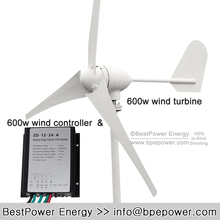 small wind power turbine 3 blades 600w, Max 700w wind generator + wind charge controller 24v 600w for home, street system(China)