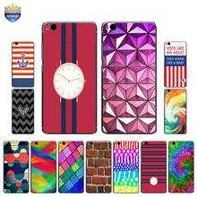 Phone Case For Xiaomi 5C Mi5 For Xiaomi Mi5S Shell For Xiaomi 5S Plus Cover TPU for Xiaomi 6 Plus Stripes Squares Design Painted(China)