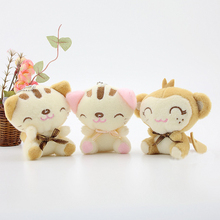 1PCS 8cm Baby Soft Abstract Plush Toy Brinquedos Plush Cat Monkey Bunny Mate Stuffed & Plush Animals Kids Toys MRT18