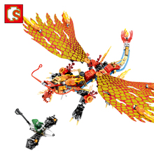Sembo blocks dragon Knight building block toys compatible legos Ninjagoe action figures enlighten Educational brick toy for kids(China)