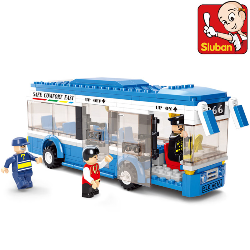 Sluban B0330 Blue City Bus 235 Pieces ABS Plastic Building Block Sets Toys For Children Compatible Lepin Christmas gift S019<br><br>Aliexpress