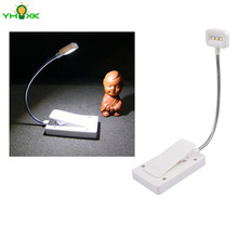Solar Mini Flexible Clip On Reading Light Solar Charging Book Lamp Solar Powered Reading Emergency Light Table Lamp For Reader
