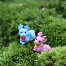 Micro fairy garden miniature decoration kawaii cute mini deers animal figurine succulent/doll house Figures Toys DIY accessories