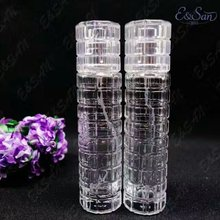 PT217-30ML New Long Cylindrical Mosaic Transparent Spray Perfume Packaging Glass Bottle 100PCS/LOT
