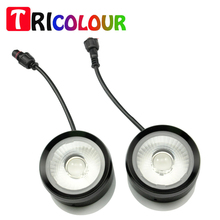 1set Strobe Flash 20W Ultra Bright Eagle Eyes Cow Eyes DRL Warning light for Universal Car with Lens blue red  #TM24-1