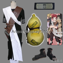 Free DHL Shipping  Naruto Shippuuden Gaara Hallowmas Uniform Suit Cosplay Party Costume Fullset As The Picture