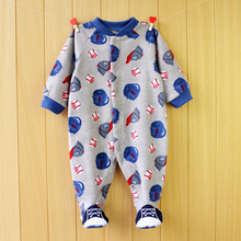 Free shipping High quality children pajamas with feet cover long sleeve baby bodysuits baby sleeper wear(China)