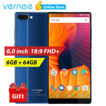 vernee Mix 2 6GB 64GB Mobile Phone 6.0 inch 18:9 All Full Screen Android 7.0 Phone Dual Camera Smartphone Octa Core 4G Cellphone(China)