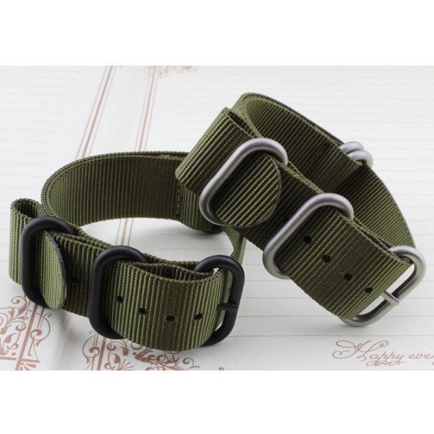 Woven nylon canvas strap 1Pis 18MM 20MM 21MM 22MM 23MM 24MM 26MM black green/  For NATO Sports and leisure good quality<br><br>Aliexpress