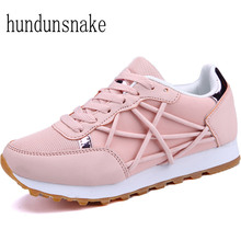 Hundunsnake Pink Sneakers Women Athletic Shoes 2017 Women's Running Shoes Ladies Shoes Sports Female Krasovki Femme Gumshoe T165