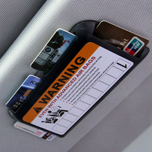 Temporary Parking Phone Number Car Visor Clip Organizer Universal High-speed IC Card Clip Car Parking Card Holder(China)