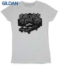 Print T Shirt For Women Supernatural Girls Juniors T-shirt - Bobby Singer Salvage Yard Car Logo Image