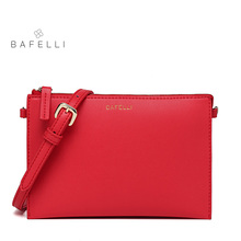 BAFELLI small flap shoulder handbag fashion Multicolor day clutches hot sale pink red bolsa mujer women messenger bag(China)