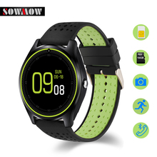 SOWMOW V9 Bluetooth 4.0 Smart Watch Support SIM/TF Card Sport Wearable Device Fasion Cool Design Smartwatches For Android Phones(China)