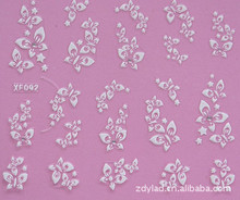 2 Sheet XF nail sticker wholesale / 3D nail stickers / French  XF092