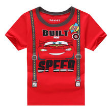 Infant Toddler Cartoon Cars Kids Baby Boy Clothes Summer Short Sleeve Tops T shirt Tees Clothes 2-7Y