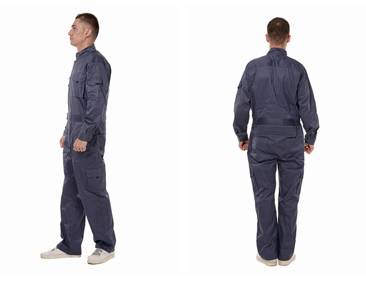 Work Overalls Long Sleeve Working Clothes Dustproof Auto repair Wear-resistant Coveralls Unisex Workwear Solid Color Uniforms (21)