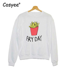 Cosyee Women Sweatshirts Fashion FRY DAY Letter Print New Black Hoodies O-Neck Pullover Hipster Winter White Gray Harajuku Hoody - Store store