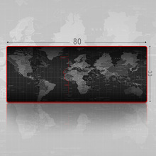 Store Large Gaming Mouse Pad The World Map Mouse Mat Desk Pad Keyboard Pad For Dota CS Go Red Side(China)