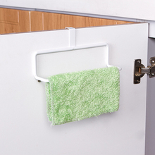 Multi purpose movable door back type single bar towel storage rack for kitchen and toilet 19*5*5.5cm(China)