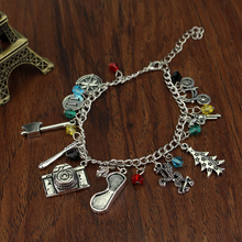 New fashion STRANGER THINGS crystal Axe Eyes Gun Christmas trees series Bracelet & Bangle Anime Cosplay Jewelry for men /Women