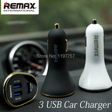 3 Ports USB Car Charger for Apple iPhone iPad iPod Cell Phone Travel Adapter for Samsung HTC SONY LG 2.4A Cigar Lighter DC 24V