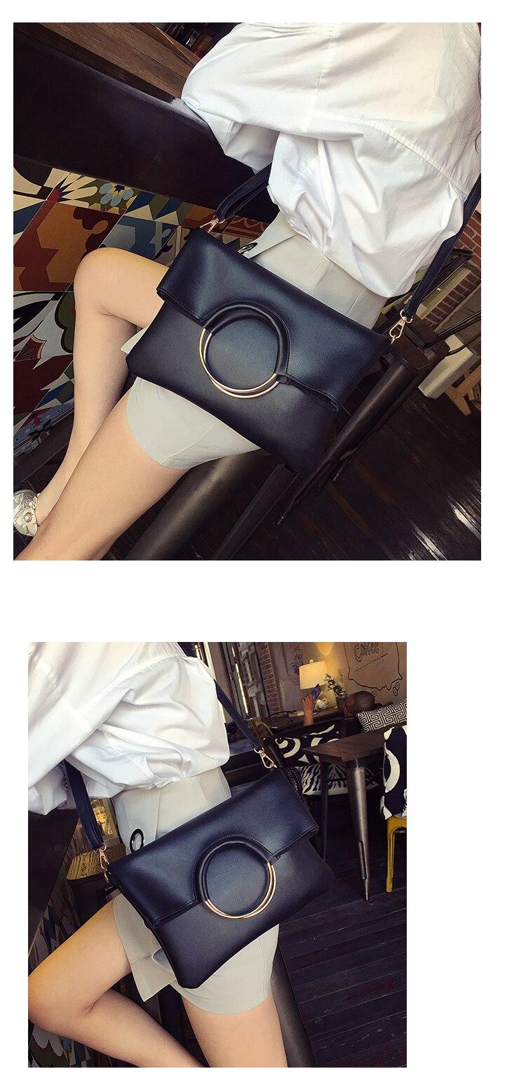 MIWIND Women Ring Handle Handbag Female Shoulder Crossbody Bags Ladies Messenger Bags TCH1138