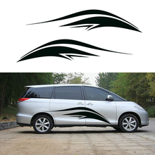 2 X Personalized Streamline Artistic Fast Forward and Never Give Up The Theme for SUV Camper Van Car Styling Vinyl Decal 9 Color
