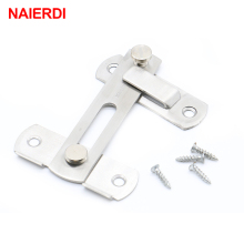 NAIERDI 304 Stainless Steel Hasp Latch Lock Sliding Door Simple Convenience Window Cabinet Locks For Home Hotel  Door Security