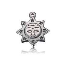 Stainless Steel Sun Charms High Quality Pendant Small 3.3g 20pcs/lot 18x20mm