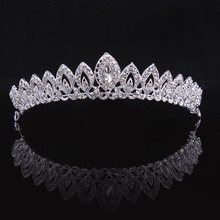 Women's Silver Color Rhinestone Acessorios Hair jewelry Wedding Crystal Royal Crown and Tiaras Bride  HC02