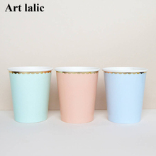 New arrival Candy Color Dinner Paper cup Party Supply Party Decor Supplies CP060