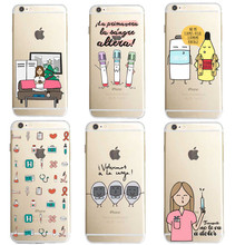 Spain Cute Cartoon Medicine Nurse Doctor Dentist Soft silicone TPU For iPhone SE 5 5S 6 6S 6Plus 7 7Plus X 8 8Plus Phone Cases(China)