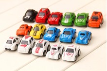 cartoon mini pull back car rebound vehicle toy one pcs random color pattern(China)