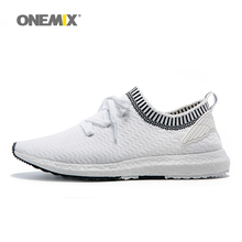 ONEMIX New Man Running Shoes For Men Olympic Athletic Trainers White Zapatillas Sports Shoe Outdoor Walking Sneakers Free Ship
