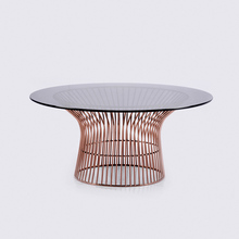 Goolee Elegant Modern Metal Glass Coffee Table For Living Room(China)